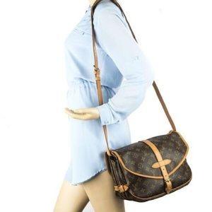 100%Authentic Louis Vuitton 1990 Vintage Saumur 30
